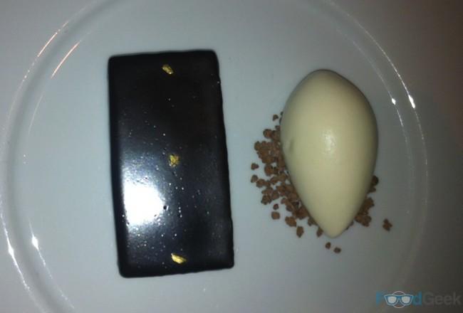 Chocolate Bar, Passion Fruit Jam & Ginger Ice Cream