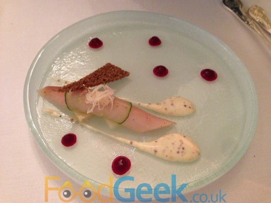 Home Smoked Mackerel, Roast celeriac, pickled beets & mustard cream