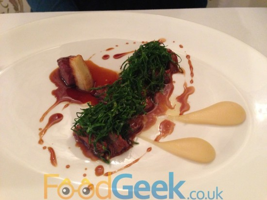 Venison, Parsley root & Sprout Tops