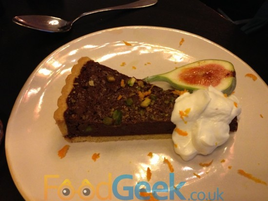 CHOCOLATE & PISTACHIO TART With scrumptious baked figs & creamy Yeo Valley natural yoghurt