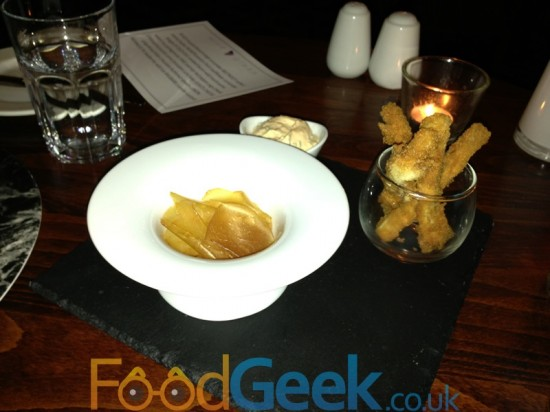 Scallop Crisps, Pigs Ears