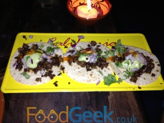 Crispy Beef Street Tacos
