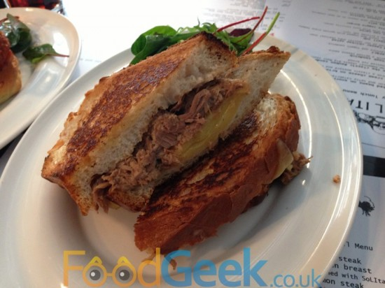 Pulled Pork Cheese Toastie