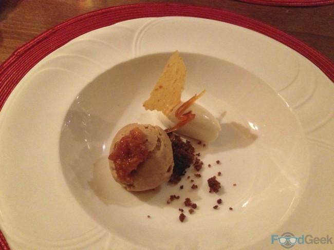 Malt Bread Ice Cream & Orange Preserve