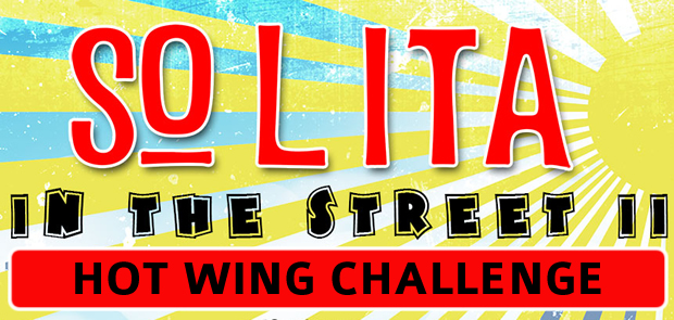 SoLiTa In The Street 'Hot Wing Challenge' Champion!