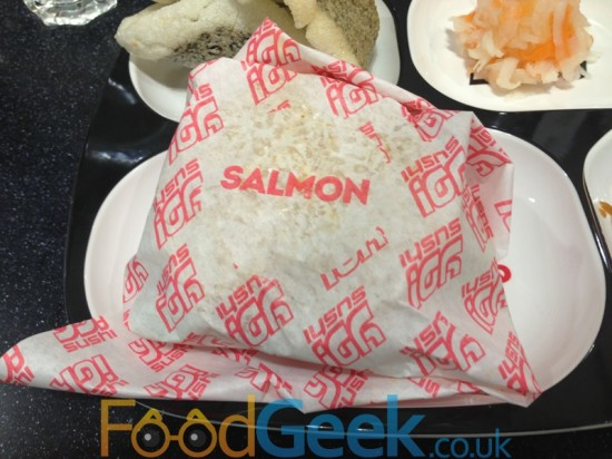 Salmon Yo! Burger Wrapper