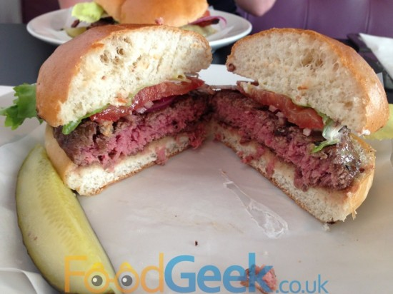 Classic Burger Inside
