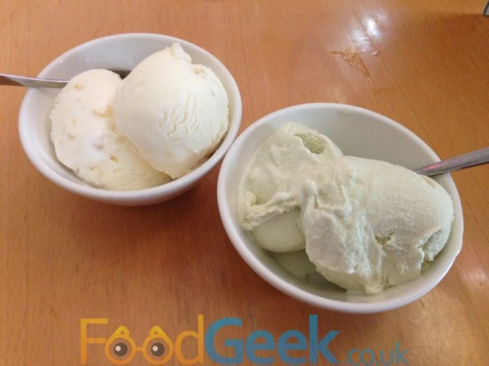 Stem Ginger & Green Tea Ice Creams