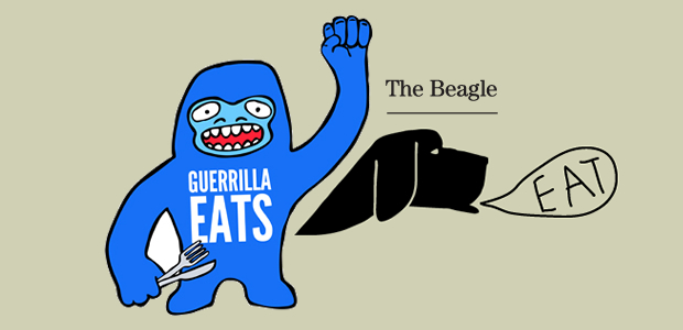 Guerrilla Eats At The Beagle Opening Night. Street Food, In A Pub!