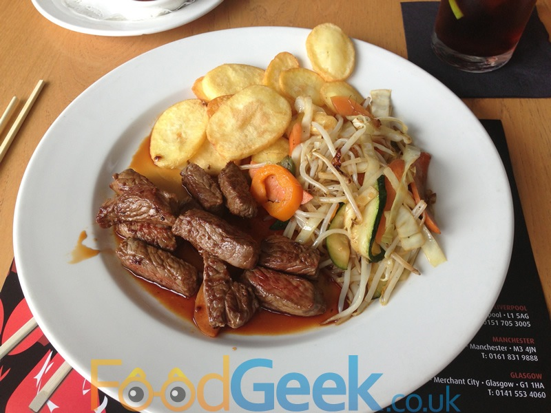 Sirloin Steak in Teriyaki Sauce
