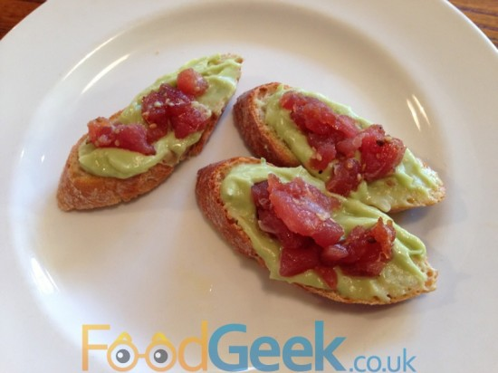 Tuna Tartar with Avocado Puree