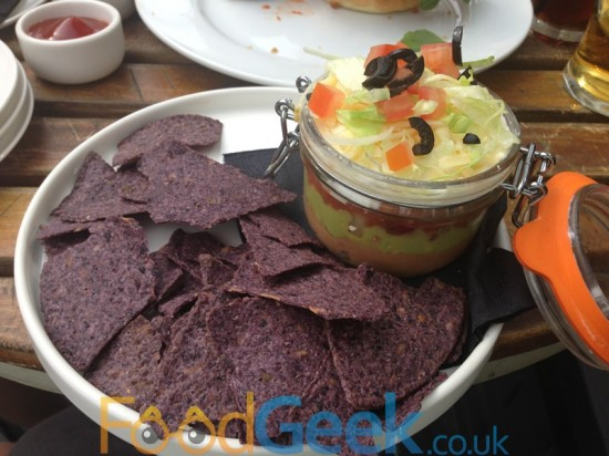 Lucky 7 Dip & Blue Corn Tortilla Chips (Photo from later visit)