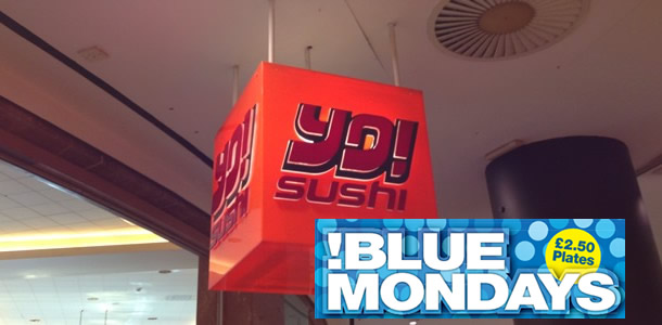 Yo! Sushi Blue Mondays, Selfridges, Trafford Centre