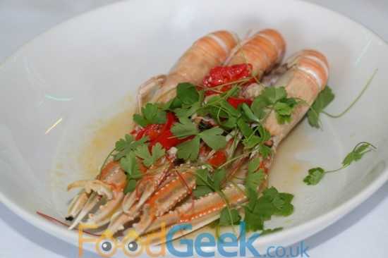 Langoustine, White Crab, Red Chilli & Garlic