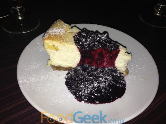 Baked Vanilla Cheesecake, Autumn Berry Compote
