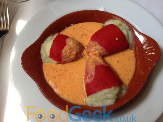 Red Peppers filled with Cod & Potato