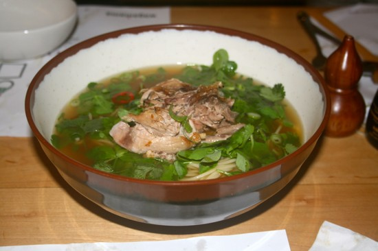 Duck & Pea Shoot Ramen