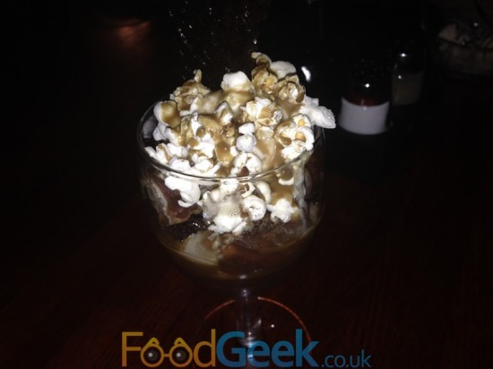 Toffee Popcorn & Donut Trifle