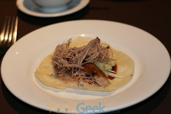 Crispy Aromatic Duck with Pancakes & Trimmings