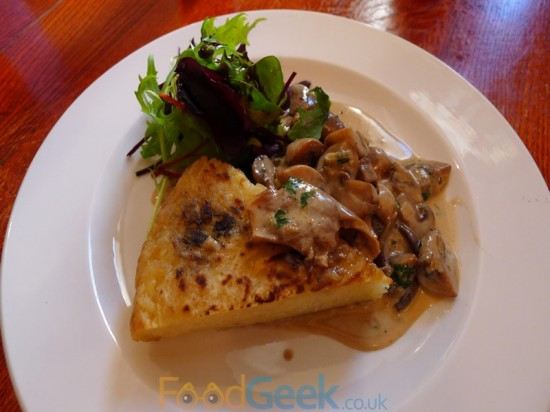 Potato Rosti & Creamy Wild Mushrooms