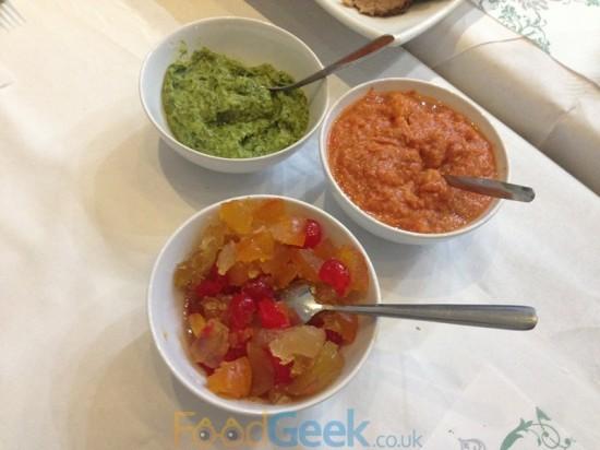 Salsa Rossa, Salsa Verde & Mostarda Di Cremona