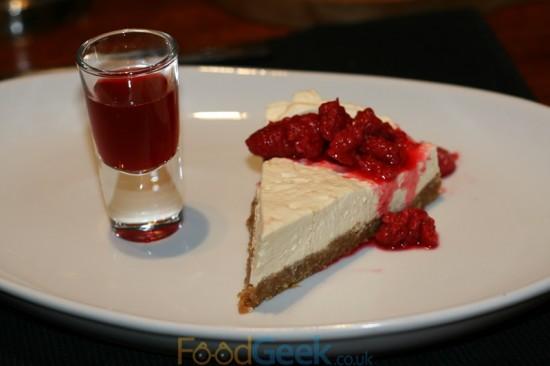 Raspberry Cheesecake & Raspberry Vodka
