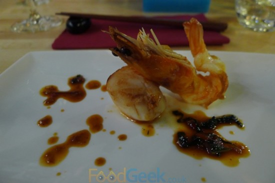 Pan Seared King Prawn and Scallop
