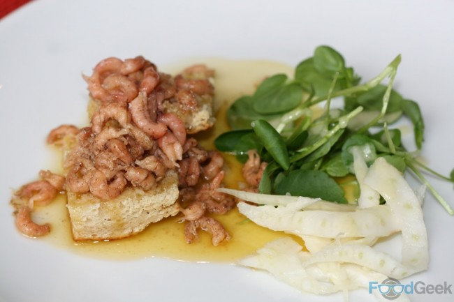 Shrimps, Spiced Butter, Parkers Crumpet