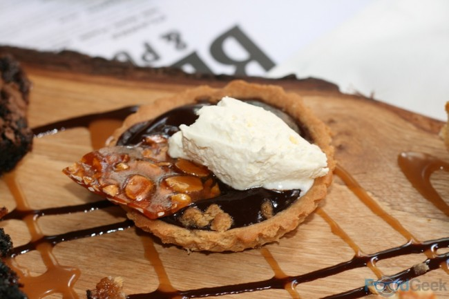 Chocolate Tart with PeanutBrittle