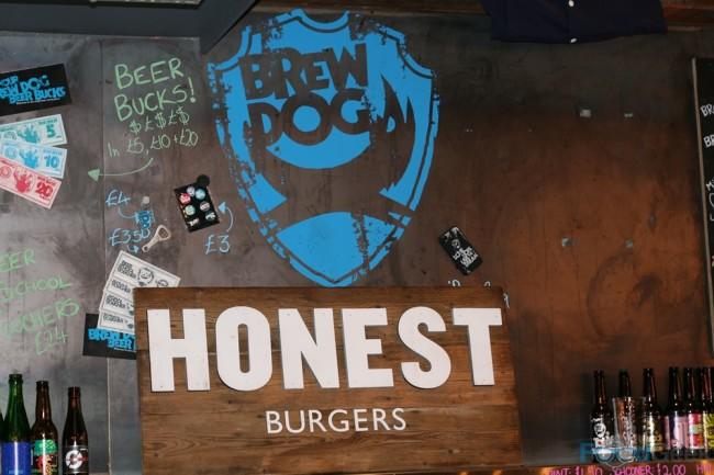 Honest Burgers Sign