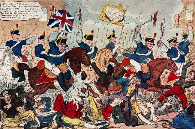 Peterloo Massacre by George Cruikshank