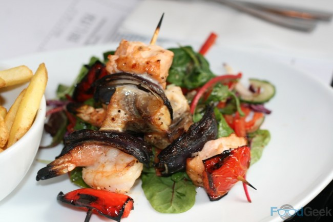 Charcoal Grilled Seafood Skewer