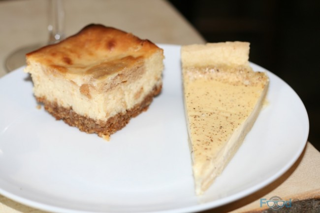 Cheesecake & Egg Custard