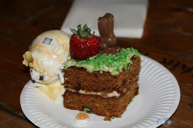 Easter Bunnies Carrot Cake with Mini Egg Ice Cream