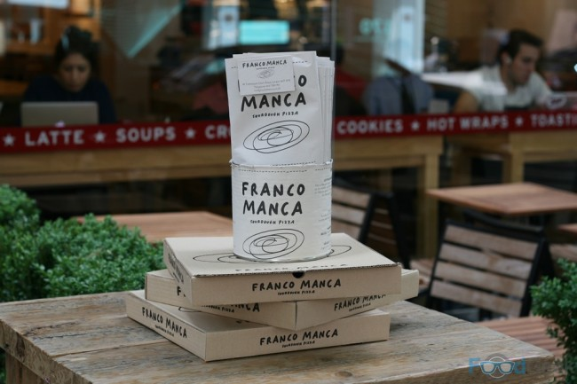 Boxes Outside Franco Manca