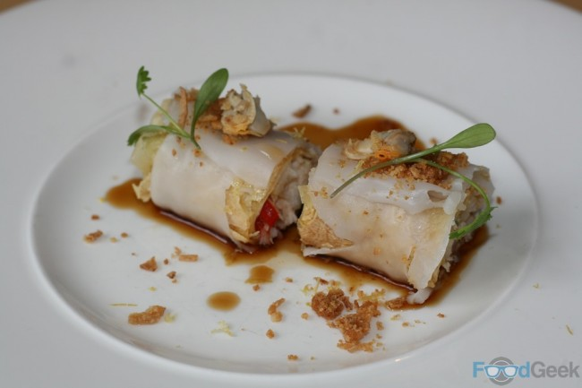 Crab, Seafood & Bean Curd Cannelloni (Cheung Fun)
