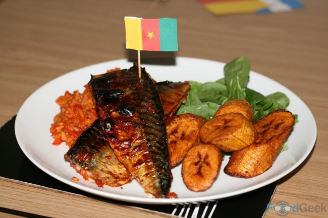 Marinated Mackeral with Plantain & Jollolf Rice
