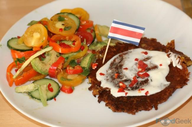 Chorreadas & Costa Rican Tomato Salad