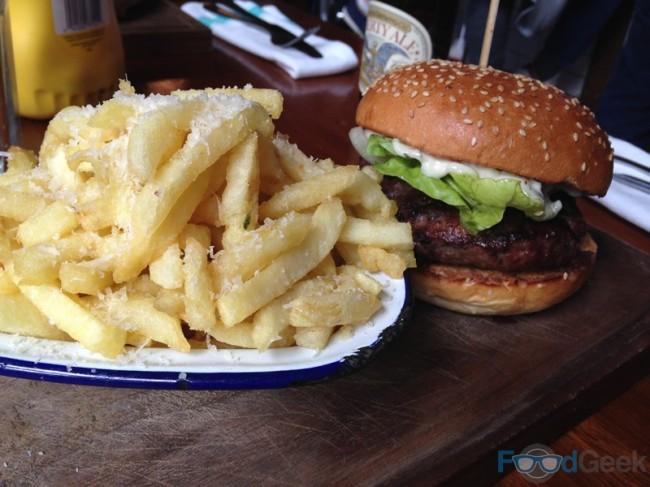 Herbed Lamb Burger & Deluxe Fries
