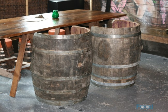 Liars Lounge Rum Barrel Seats