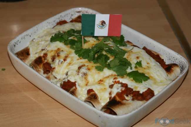 Mixed Bean Enchiladas