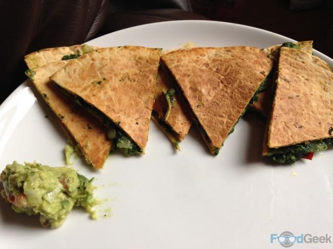 Spinach Quesadillas & Guacamole