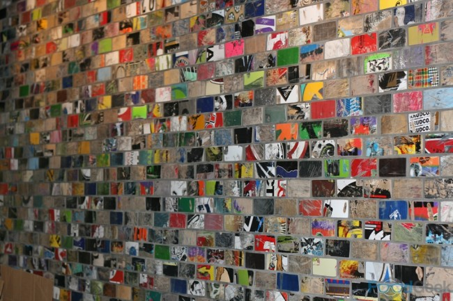 Wall Of Skateboards!