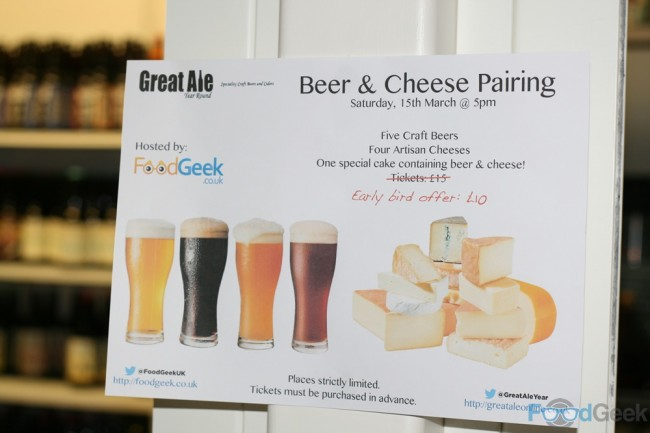 Cheese & Beer Pairing @ Great Ale, Year Round