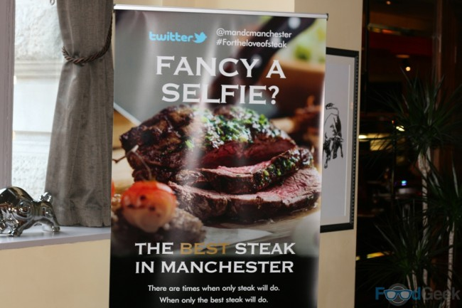 Best Steak In Manchester Sign