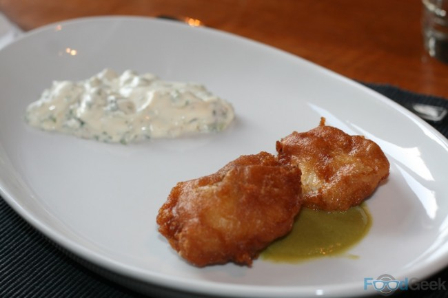 Beer Battered Cod Cheeks, Tartare Sauce