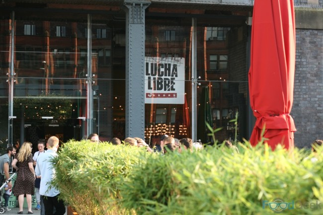Outside Lucha Libre, Manchester