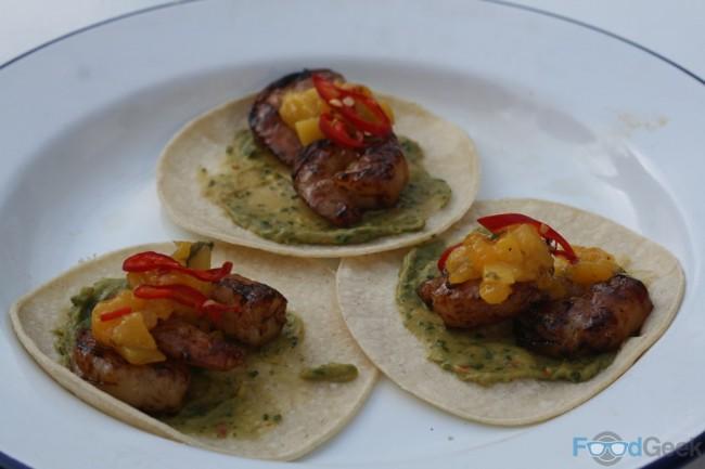 Prawn & Mango Tacos