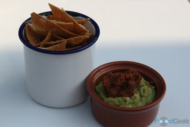 Tortilla Chips, Guacamole & Chilli Bacon Jam