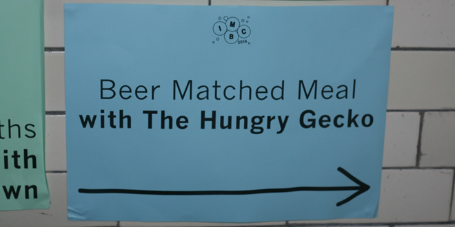 Beer Matched Meal with The Hungry Gecko @ Indy Man Beer Con 2014